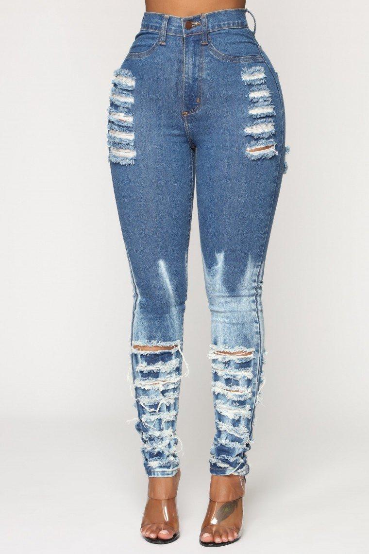 Shallow Heart Skinny Jeans - Acid Wash
