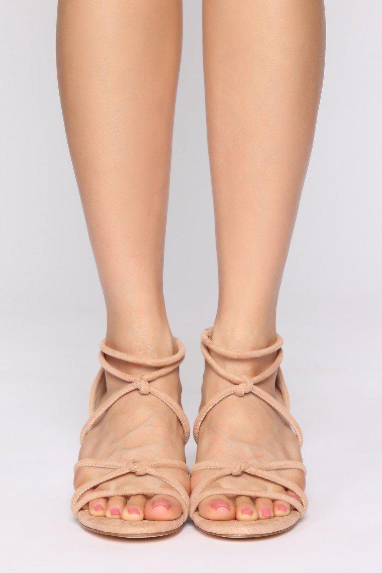 Outburst Heeled Sandals - Camel